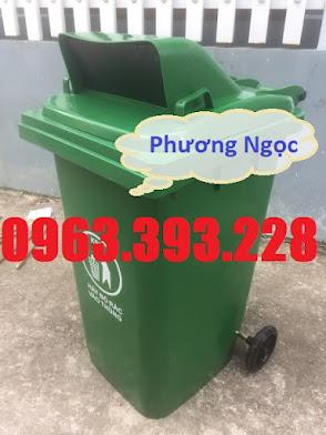 Thùng rác nhựa 240L nắp hở, thùng rác 240 Lít nhựa HDPE, thùng rác nắp hở TRNH240L6