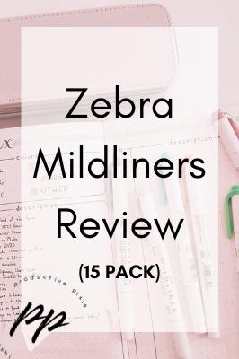 Zebra Mildliners Review (15 Pack)