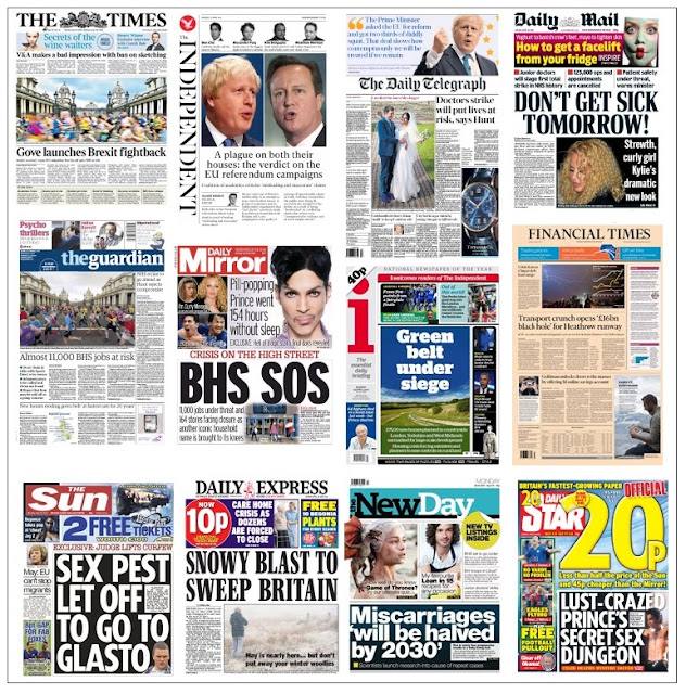 front pages 25-04-16