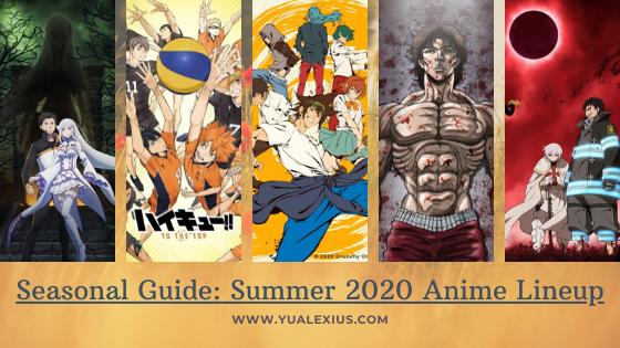 Summer 2020 Anime Lineup