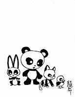 Kid Sketches: Drawing Cartoon Panda Characters and