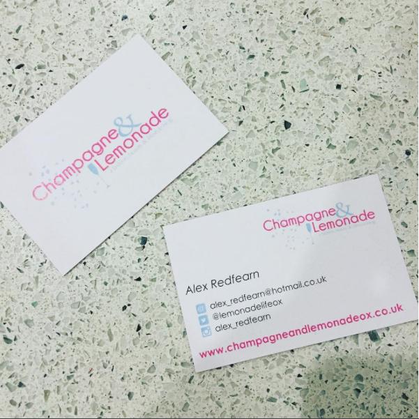 Blogger business cards auraprint living my champagne blogger business cards from aura print colourmoves
