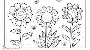 30 Gambar Bunga Yang Mudah Digambar