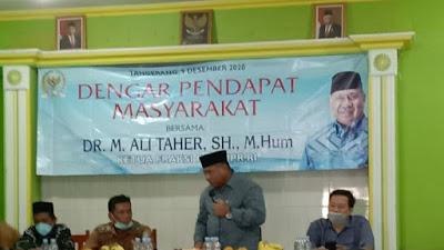 Anggota DPR RI Ali Taher Sambangi Kampung Melayu Barat Di Apresiasi Warga