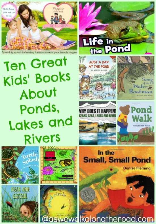 Kids' books about ponds, lakes, and rivers