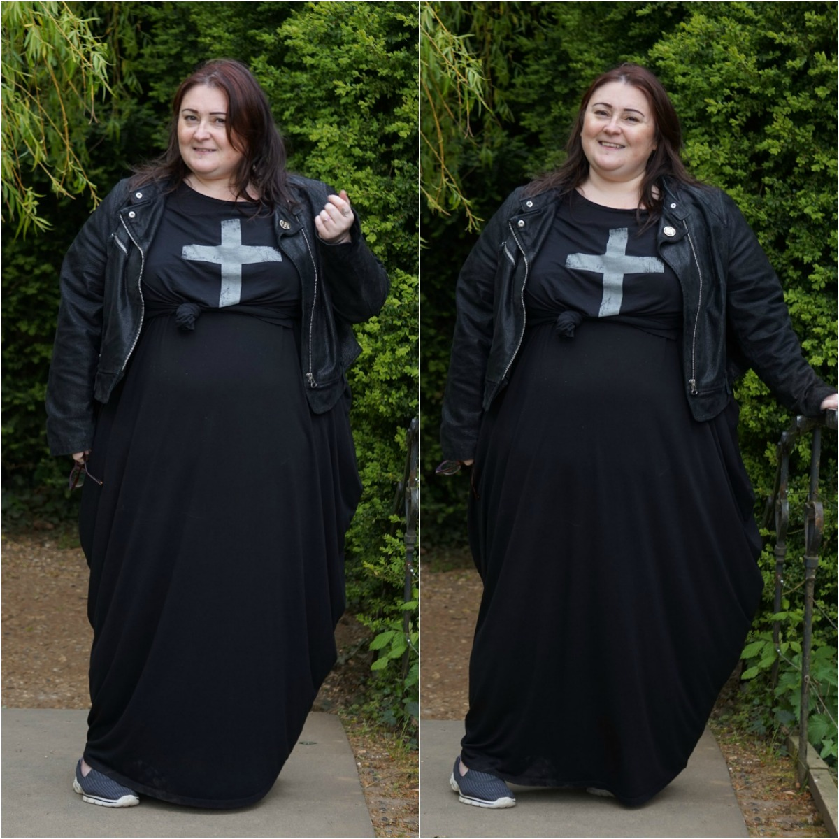 ASOS-CURVE-BLACK-HAREEM-DRAPE-MAXI-DRESS // WWW.XLOVELEAHX.CO.UK