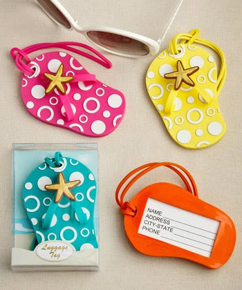 6fb6baa99 They probably won t be able to resist the urge to smile every time either! Flip  Flop luggage tags in decorative 24 box.