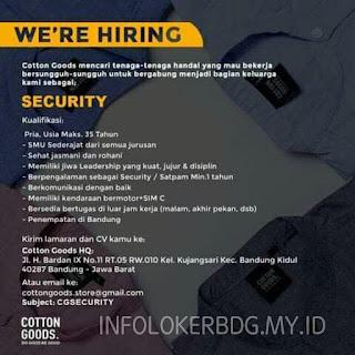 Lowongan Kerja Security di Cotton Goods Bandung