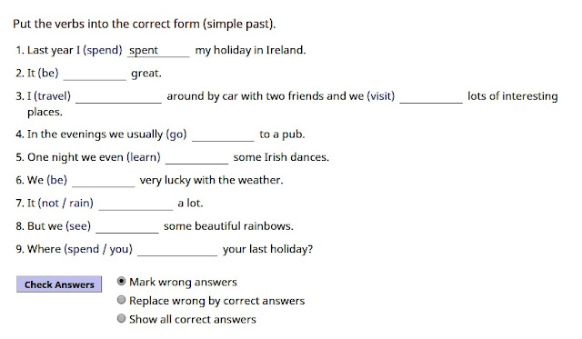 English is FUNtastic: Past Simple - regular and irregular ...