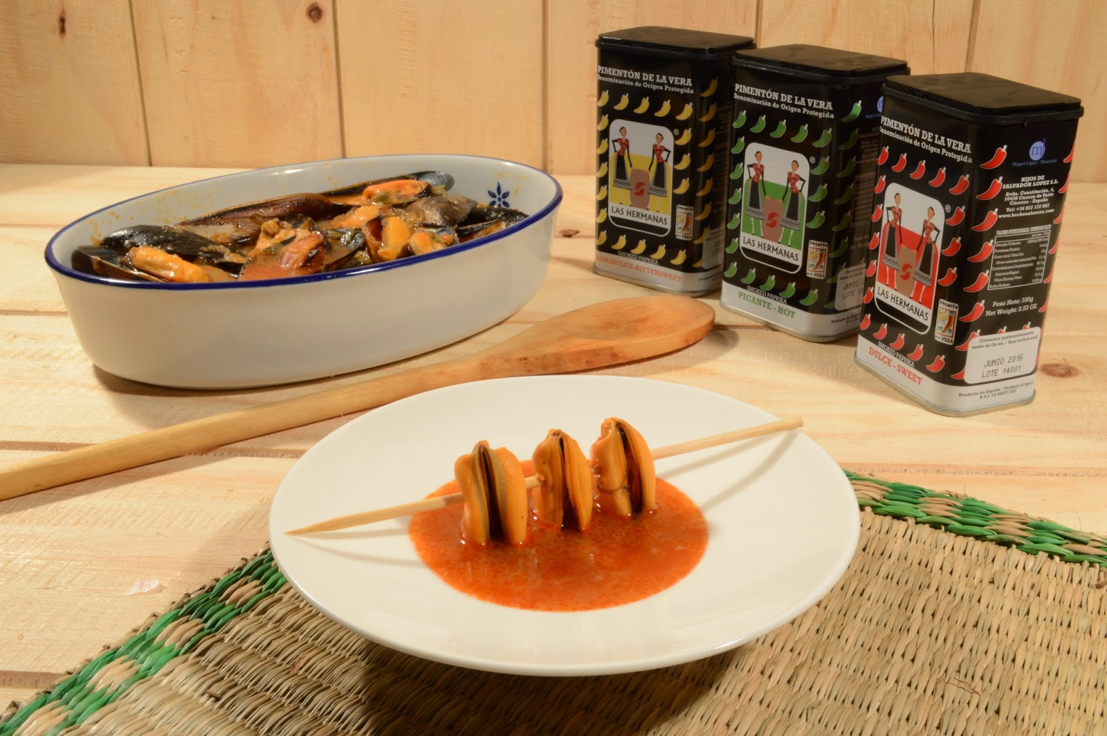 Mejillones al ajo y pimentón