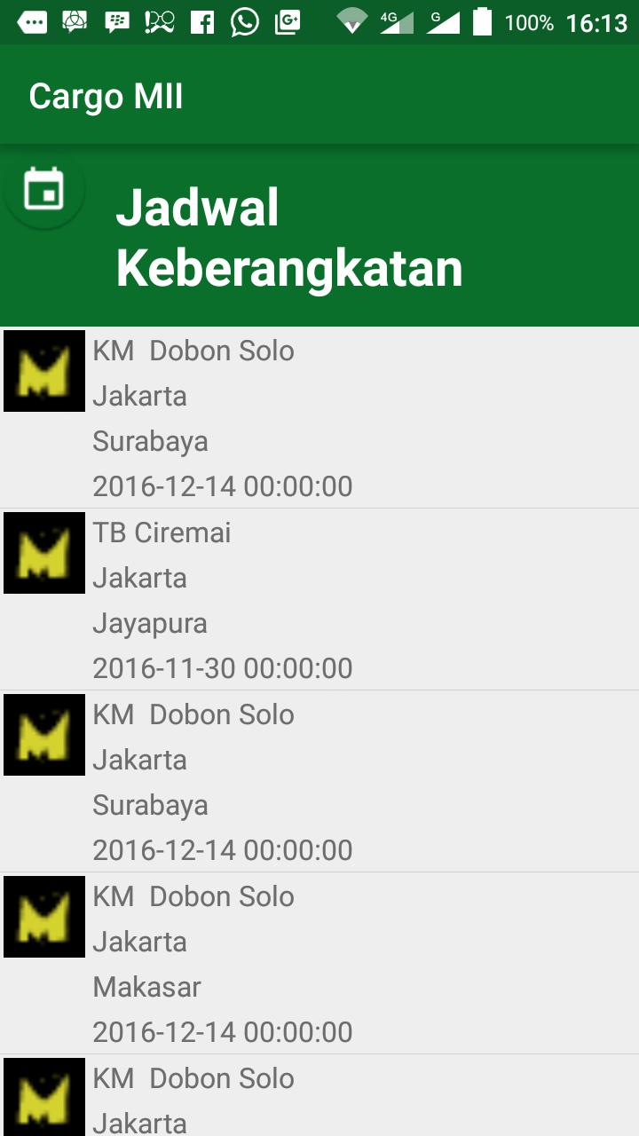 my android project  sample aplikasi cargo dan pengiriman paket