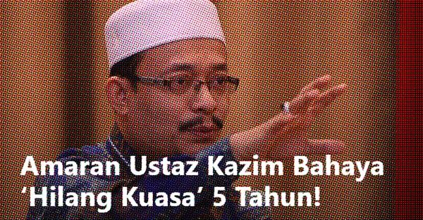 Amaran Ustaz Kazim makin nyata