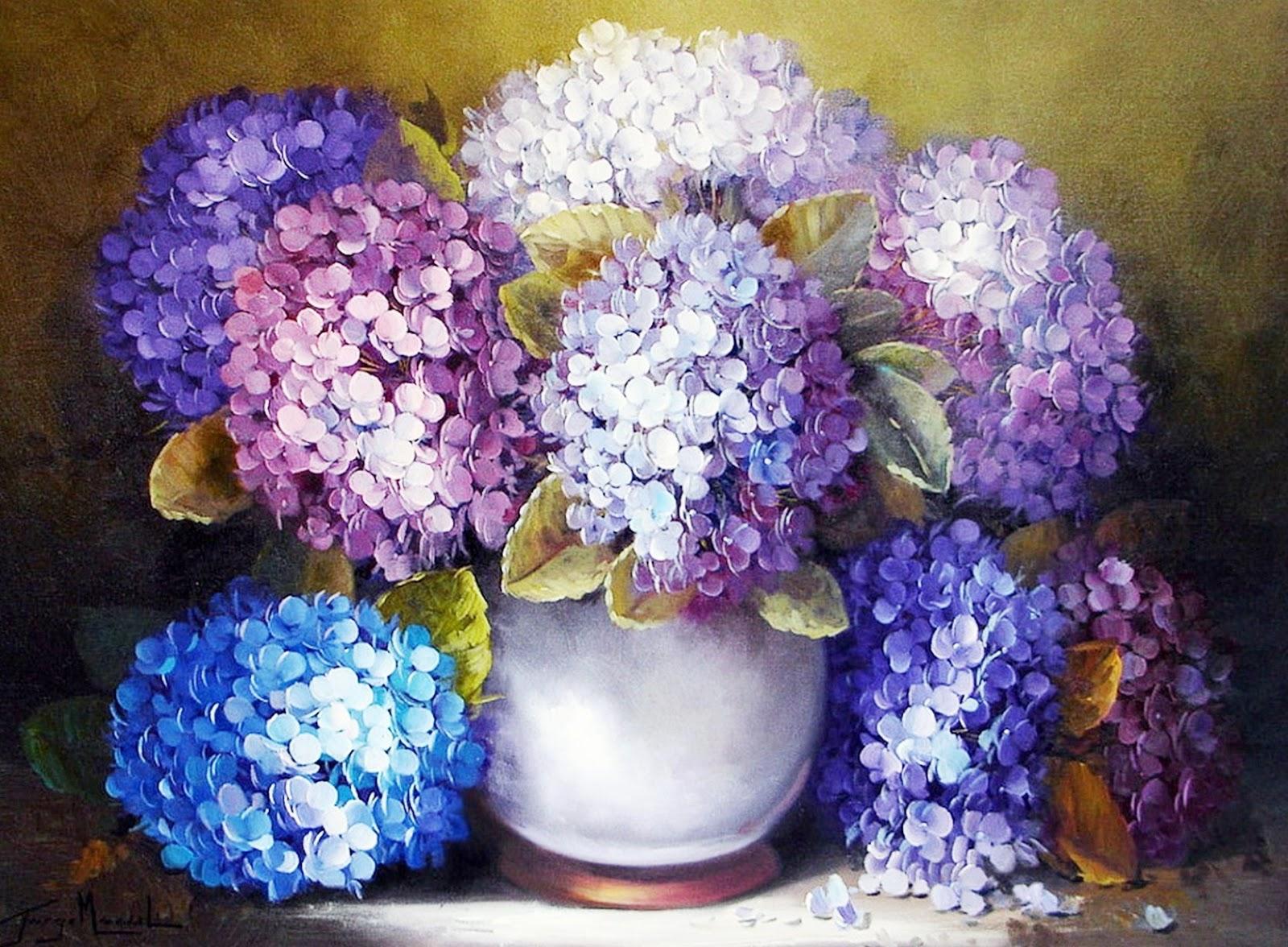 Cuadros Modernos Pinturas Y Dibujos Bodegones De Flores Pintados