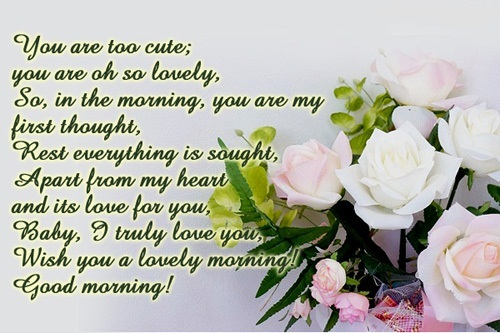 To Her Good Love Morning Messages the