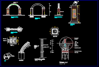 Gambar Gapura Dwg Lengkap Dengan Detail
