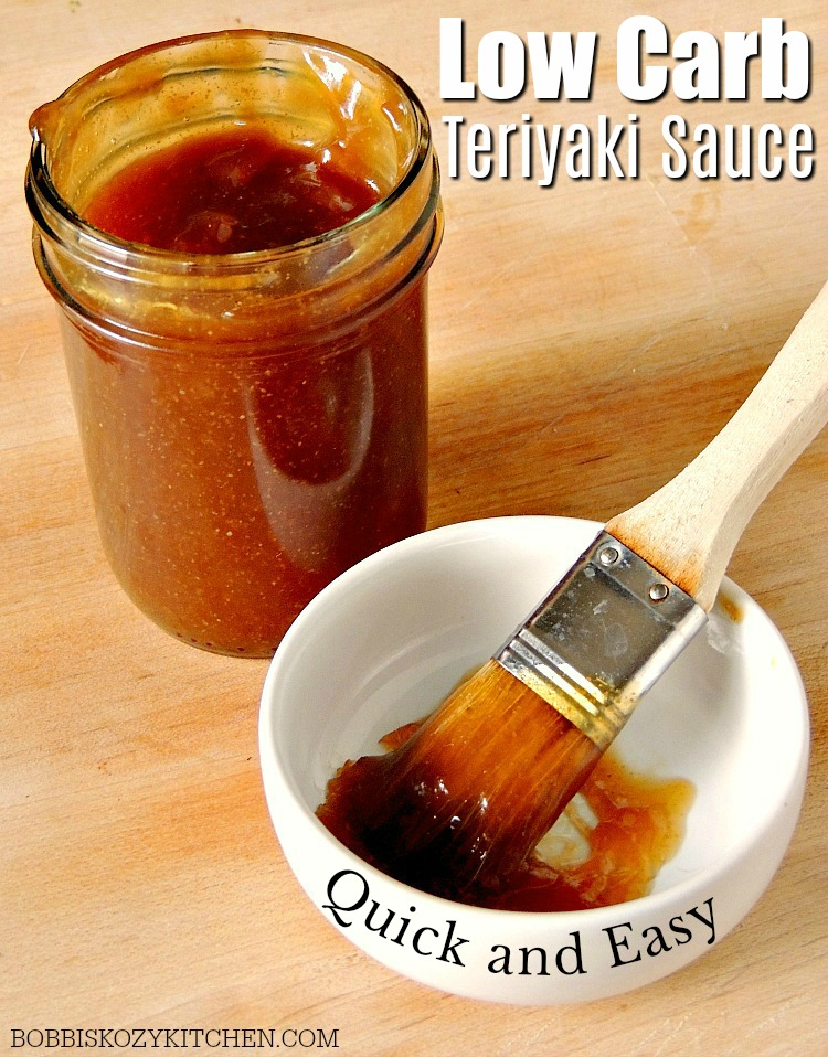 This Quick and Easy Low Carb Teriyaki Sauce recipe is gluten-free, keto-friendly, and tastes just like your favorite restaurant version! #lowcarb #lowcarbdiet #keto #ketodiet #glutenfree #asianfood #easy #DIY #recipe   bobbiskozykitchen.com