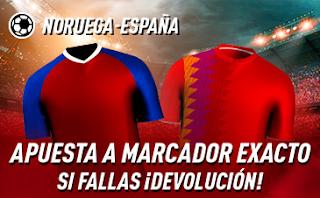 sportium promo Euro 2020 Noruega vs España 12-10-2019