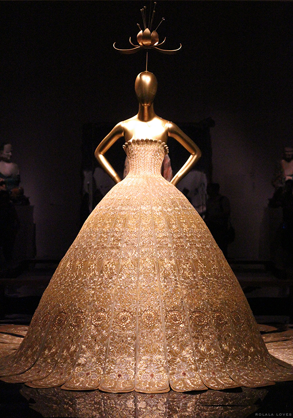 Guo Pei Gold Dress at China Through The Looking Glass