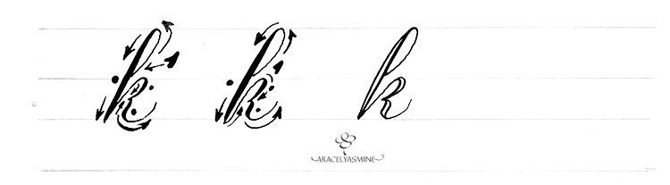 Caligrafia Copperplate Cómo Escribir La Letra K