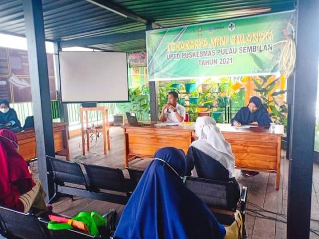 Lokmin Bulan Pertama, UPTD Puskesmas Pulau Sembilan Bahas Ini