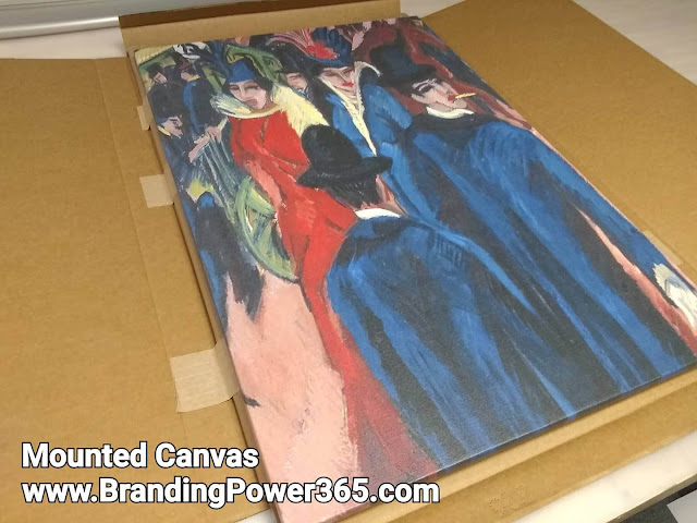 "24"" x 36"" Mounted Canvas Print, Mounted on Light and Durable Stretcher Bars (www.BrandingPower365.com)"