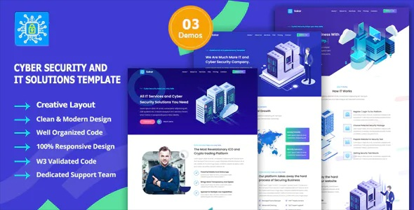 Best Cyber Security & Managed IT Services Template