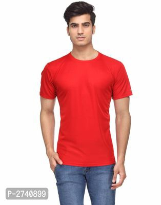Men's Solid Polyester T-Shirt