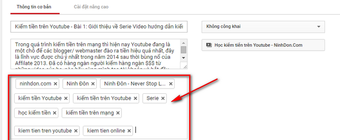 Cách đặt Tags cho Video hiệu quả nhất cho youtube