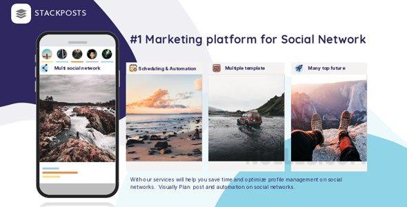 Stackposts v7.1.0 – Social Marketing Tool + Modulos
