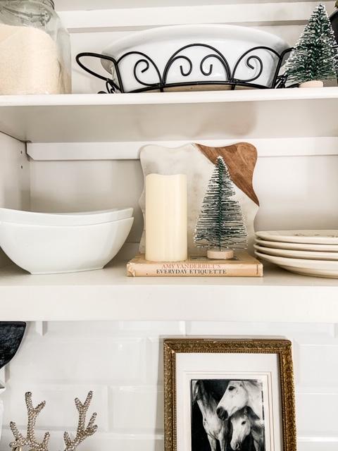 simple winter shelves