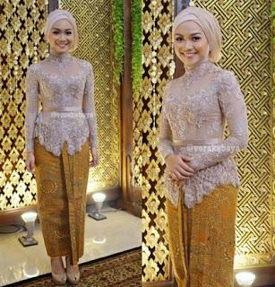 Kebaya Modern Untuk Wisuda Warna Gold Model Baju Busana Muslim Terbaru