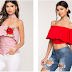 SEE TRENDY OFF- SHOULDER TOPS FOR THE LADIES