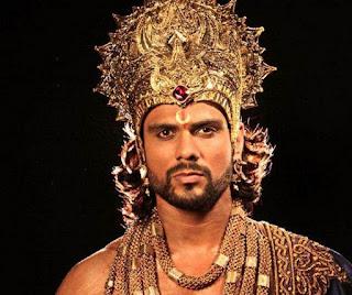 Foto Arpit Ranka sebagai Duryudhana di Mahabharata