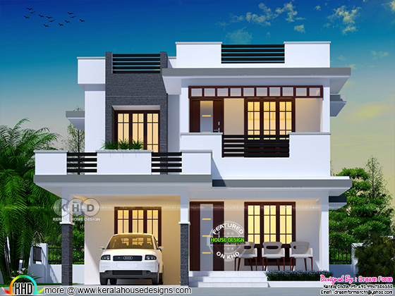 4 bhk flat roof modern home 2049 sq-ft