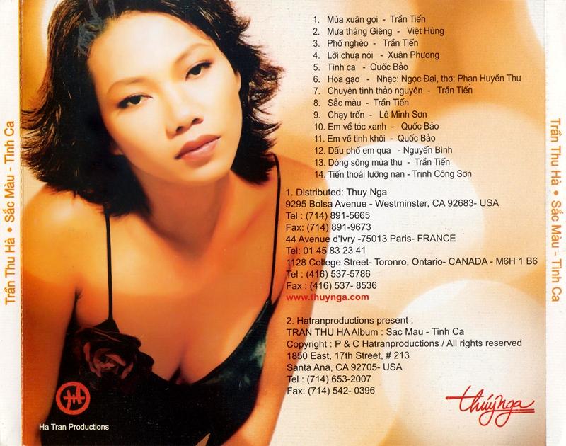 Thúy Nga CD - Trần Thu Hà - Sắc Màu Tình Ca (NRG)