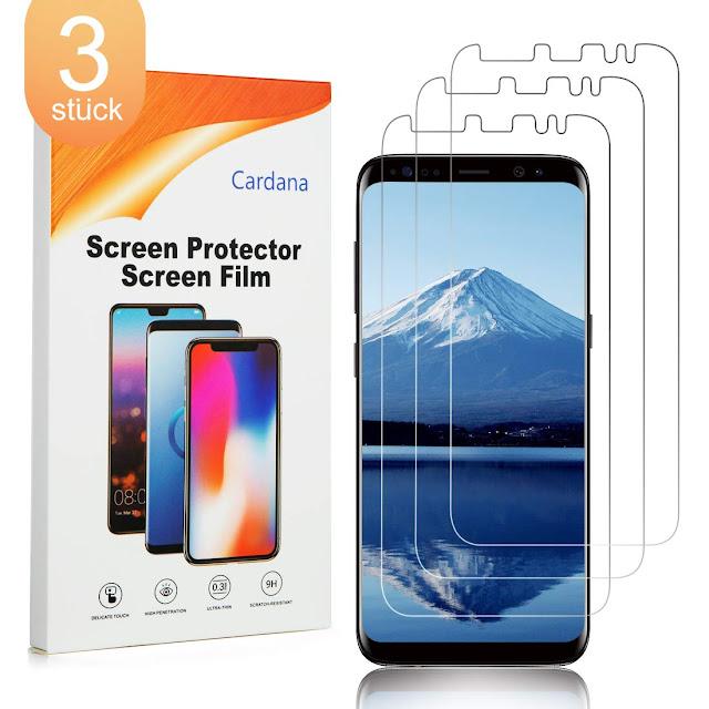Cardana 3X Samsung Galaxy S8 Schutzfolie, Displayschutzfolie [ Volle Abdeckung ]  [Einfache blasenfreie Installation] Panzerglasfolie, extrem langlebige Folie Transparent Preis