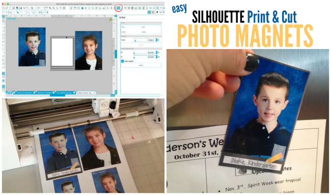 silhouette cameo school photo magnets tutorial