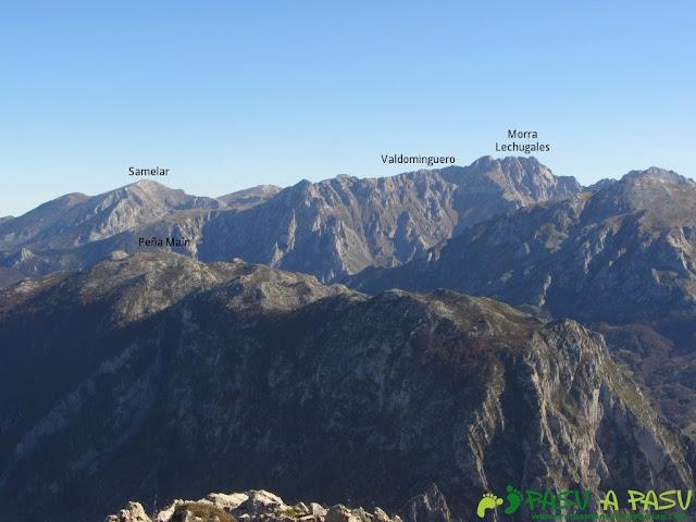 Vista del Samelar, Valdominguero y Morra de Lechugales desde el Cuetón