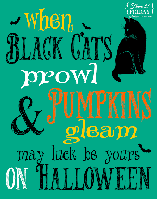 Halloween, prints, black cats, pumpkins