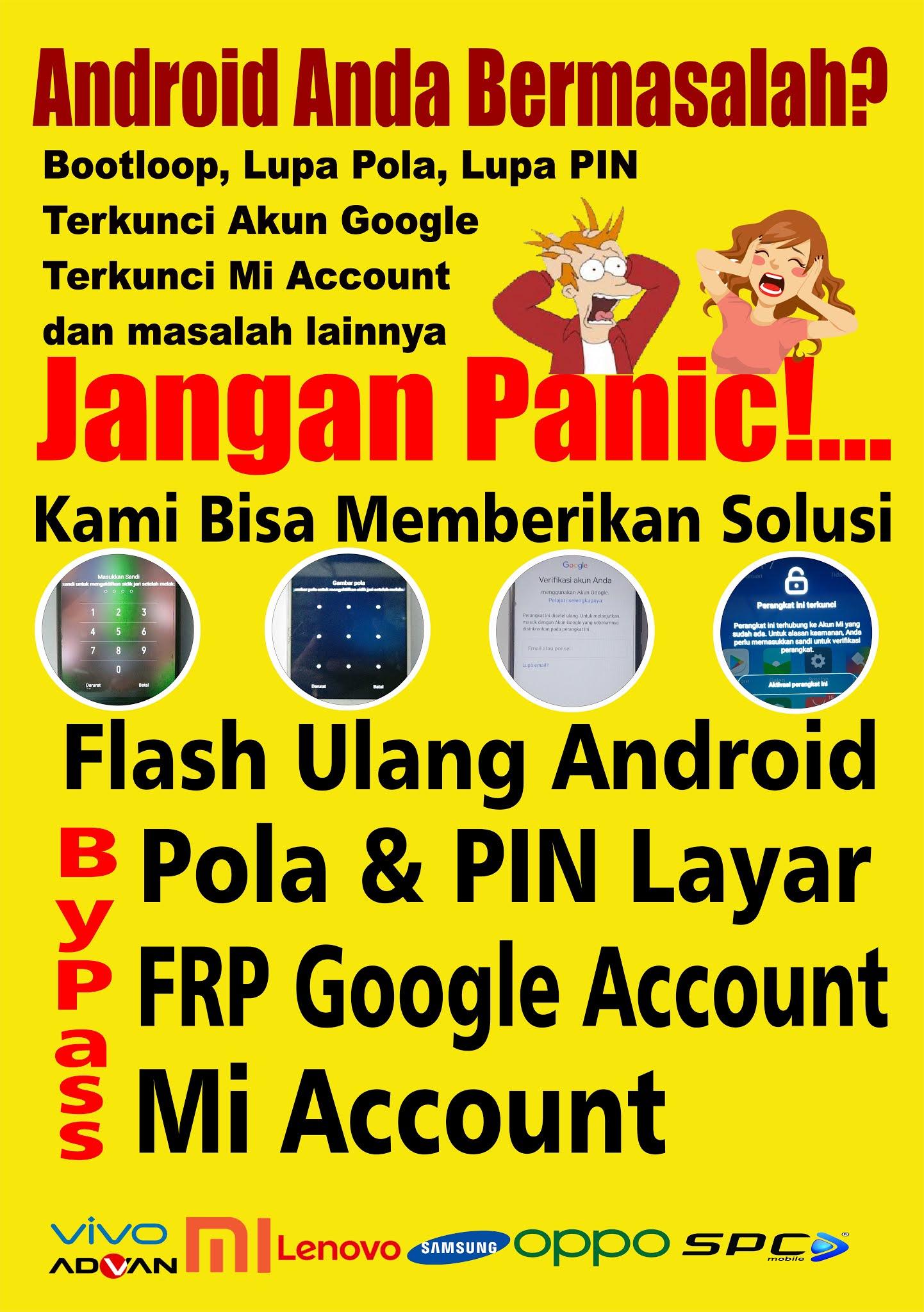 Jasa ByPass Pola PIN dan FRP Android