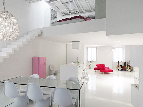 Hogares frescos loft minimalista y moderno con dise o de for Loft modernos exterior