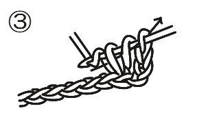 中長編みの編み方,編み図,GIF動画,how to crochet harf double stitch,pattern,gif movie,中长针的钩织方法,图案,GIF动画