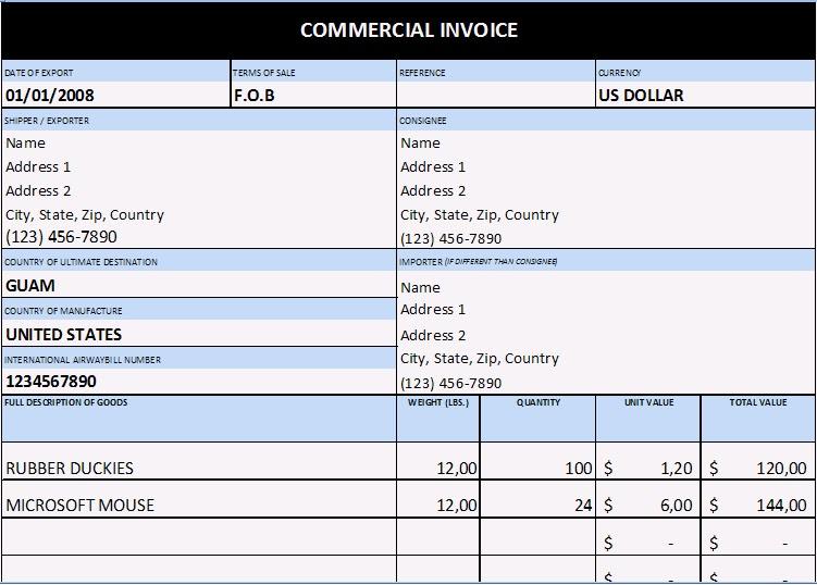 Colombia Exporta E Importa Documentos Para la Importación Factura - formato de factura de venta