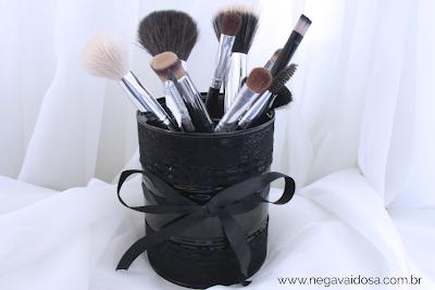 Porta pincéis de maquiagem: resultado final