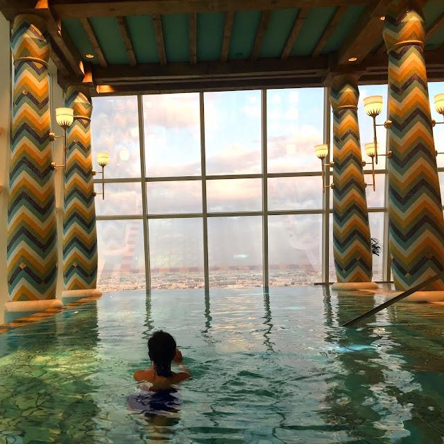 Burj Al Arab Review - Vegan Dubai Travel - Indoor Pool