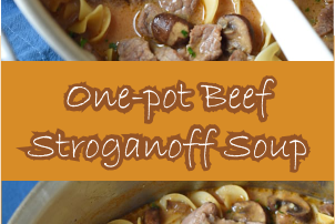 ONE-POT BEEF STROGANOFF SOUP