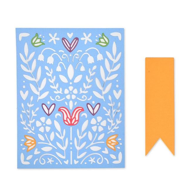 Sizzix Thinlits Die Set 7PK - Folk Art Stencil (663608)