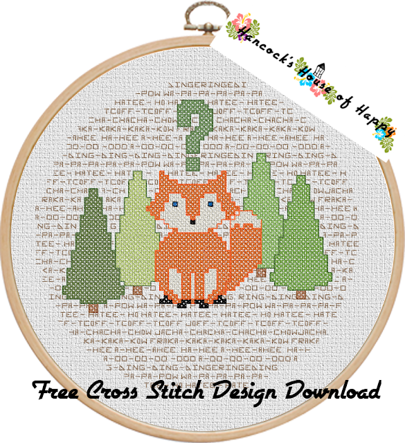 What the Fox? Woodland Fox Free Cross Stitch Design to Download
