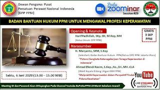 Seminar online keperawatan gratis 3 SKP PPNI