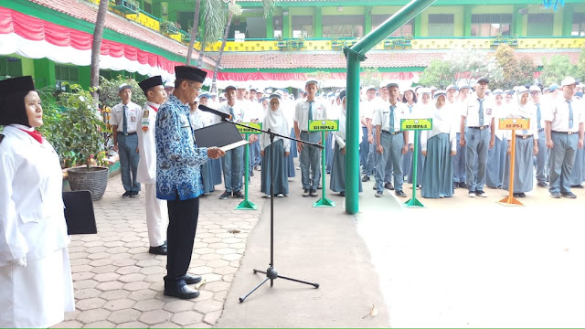 ceremony 17 agustus 2019 at SMAN 110